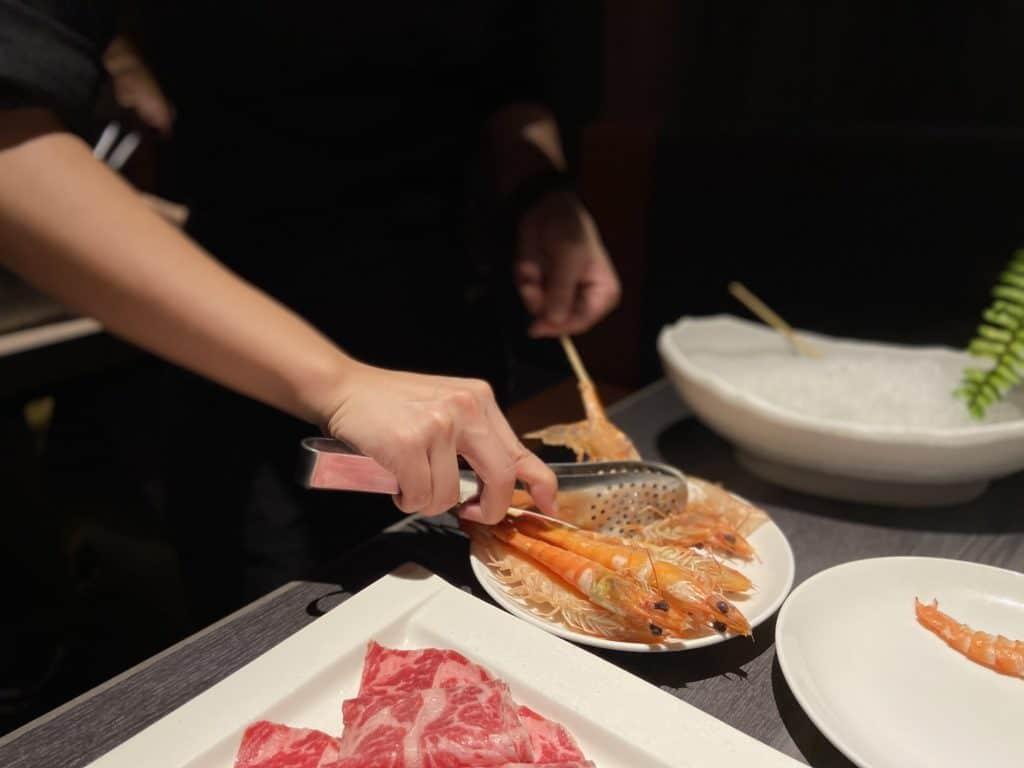 台北101美食/食令·shabu 火鍋界的愛馬仕 A5鹿兒島和牛、法國頂級藍龍蝦 情侶浪漫約會新選擇 30