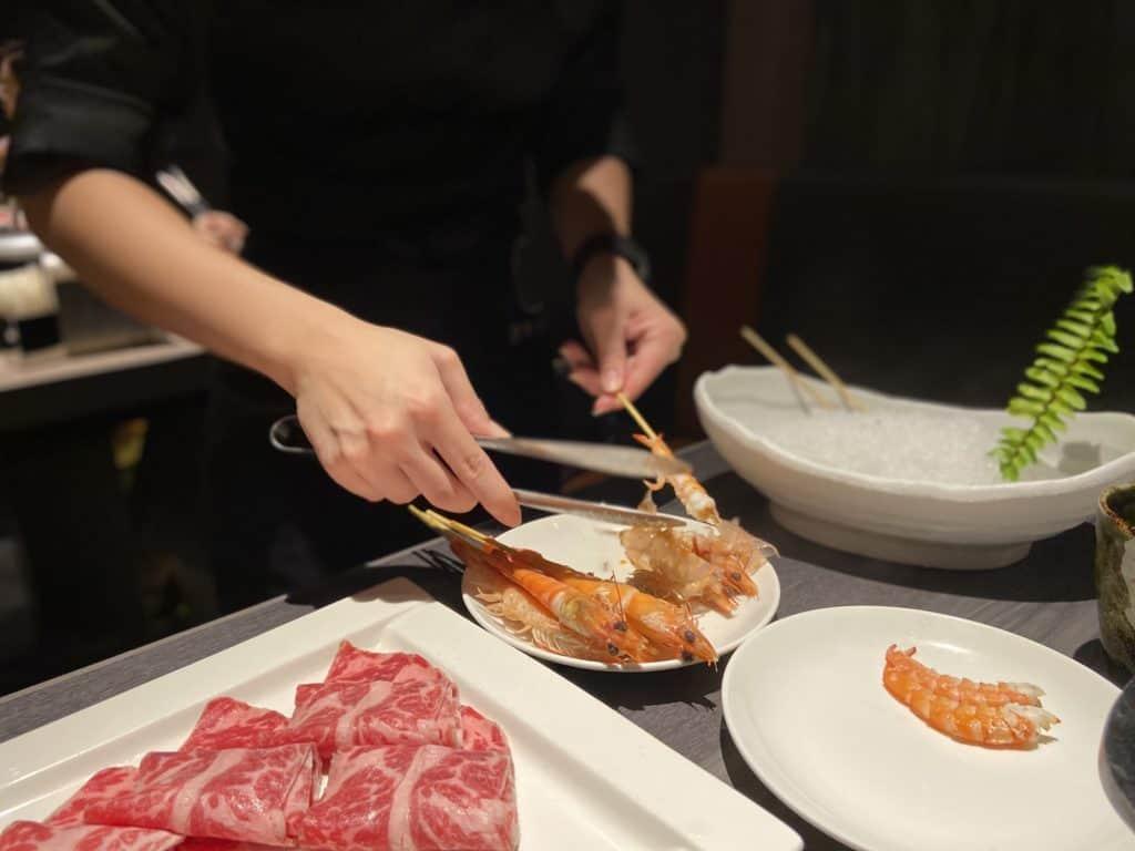 台北101美食/食令·shabu 火鍋界的愛馬仕 A5鹿兒島和牛、法國頂級藍龍蝦 情侶浪漫約會新選擇 31