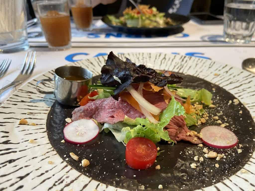 台北大安 凱恩斯岩燒餐廳 採用400度火山岩石板燒烤牛排 經典海陸雙人套餐 10