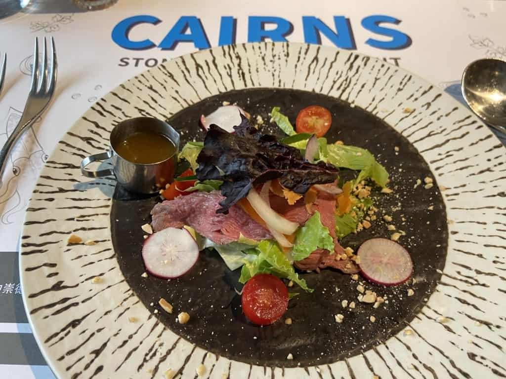 台北大安 凱恩斯岩燒餐廳 採用400度火山岩石板燒烤牛排 經典海陸雙人套餐 11