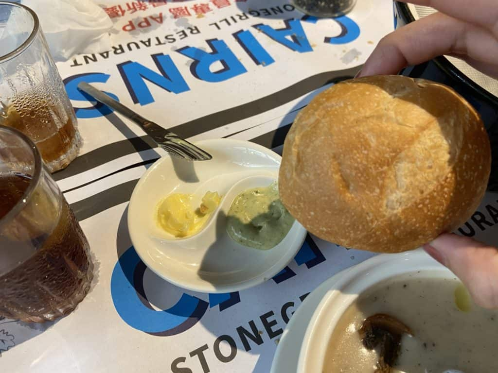 台北大安 凱恩斯岩燒餐廳 採用400度火山岩石板燒烤牛排 經典海陸雙人套餐 24