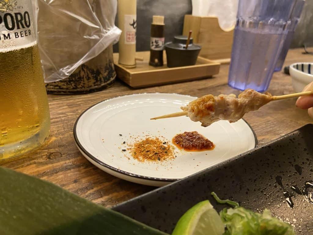 台北 南京復興居酒屋 京丘炭火燒鳥專門店 居酒燒鳥野菜捲 道地京都風味 串燒烤物 21